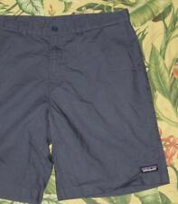 "Mens PATAGONIA Blue 10"" Lightweight All Wear Hemp Shorts 38"