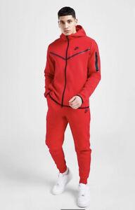 Mens NSW Nike Tech Fleece Taped FZ Tracksuit SET Hoodie & Bottoms Ltd Edition