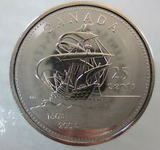 2004 P CANADA 25¢ ST. CROIX QUARTER UNCIRCULATED FROM MINT ROLL COIN