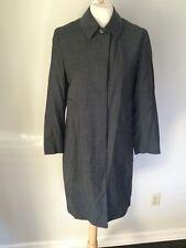 Burberry Burberrys' Wool Coat Dress Blazer Gray US Sz 6 IT Sz 42