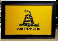 Dont Tread On Me, Large Texas Flag Framed Aged Real Rustic 39 by 27