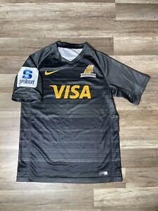 Rare Argentina UAR Super Rugby Visa Charcoal 2018 Nike Alternate Jersey Medium