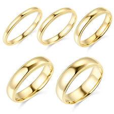 14K Yellow Gold 2mm 3mm 4mm 5mm 6mm Comfort Fit Men Women Milgrain Wedding Band