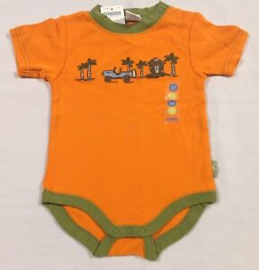 NWT Gymboree ISLAND EXCURSION orange jeep palm tree tiki hut bodysuit shirt 3-6
