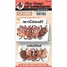 Art Impressions Flip Card Clear Stamp-warthog