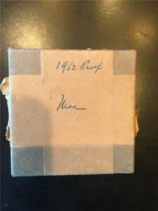 HIGH ANXIETY- 1952 ORIGINAL BOX CHOICE PROOF CAMEO- 1¢-5¢-10¢-25¢-50¢ PERFECTION