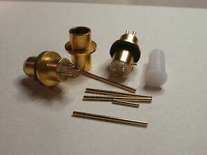 STANDARD HEADSHELL 4 PIN CONNECTOR GOLD PLATED  FOR TURNTABLE  MADE In Italy
