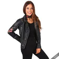 Zip Leather Punk Coats & Jackets for Women