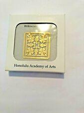 Hibiscus Bookmark Honolulu Arts Academy Orig Box - Cutouts in Shapes of Hibiscus