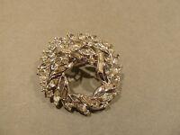 Gorgeous Vintage Trifari Rhinestone Wreath  Brooch / Pin
