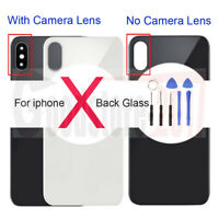 For iPhone X Replace  Battery Rear Glass Cover Housing Back Door + Camera Lens