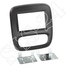 OPEL Vivaro ab2014 Doppel-DIN Radio Einbau Blende Radioblende Halterung schwarz