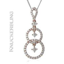0.45ct F VS Diamond Pendant in 18ct Rose Gold, with Chain