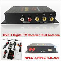 DVB-T MPEG-4 Four Way Dual Antenna HD Car Mobile Digital TV Receiver Box Tuner