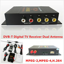 DVB-T MPEG-4 Four Way Dual Antenna HD Car Mobile Digital TV Receiver Box Tuner