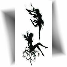 ►MINI TATOUAGE TEMPORAIRE FÉE (Petit tattoo éphémère noir / Provisoire)◄