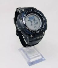 Casio Men's Triple Sensor Compass Watch with Resin Strap - Black Preowned