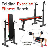 Foldable Weight Bench Press Barbell Strength Training Exercise Fitness Workout