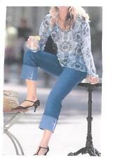 Geblümte Langarm Damenblusen, - tops & -shirts mit V-Ausschnitt