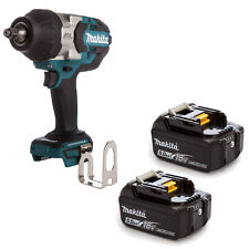 MAKITA 18V LXT DTW1002 DTW1002Z DTW1002RFE IMPACT WRENCH AND 2 BL1850 BATTERIES