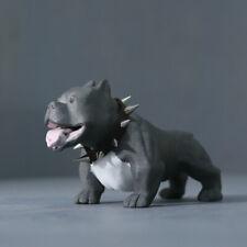 China Jingdezhen PorcelainHandmade American Bully Pitbull Bullies Dog Art Statue