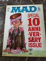 Mad Magazine No. 72 July 1962 10th Anniversary Issue Freas Cover Don Martin Cigs