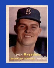 1957 Topps Set Break # 18 Don Drysdale RC VG-VGEX (wrinkle) *GMCARDS*