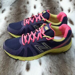 New Balance 450v2 Womens Running Shoes Size 9 Wide Purple Pink Yellow