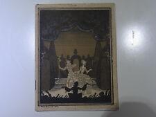 Rare livret Opéra Comique 1927 Carmen illustré P Brissaud Publicité Dunlop