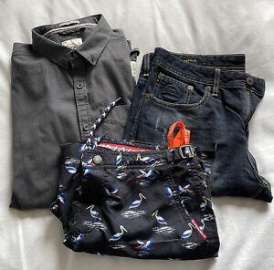 Mens superdry clothes - 1 Shirt, 1 pair of shorts, 1 swim Shorts