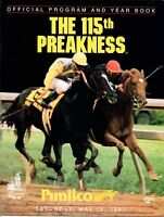 1990 PREAKNESS STAKES HORSE RACING PROGRAM -SUNDAY SILENCE, EASY GOER, UNBRIDLED