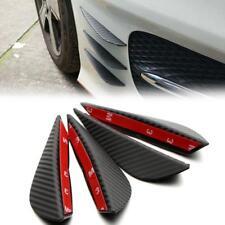 4pcs Carbon Fiber Texture Bumper Protector Body Spoiler Lip Canards Splitter