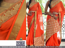 Indian Bollywood Designer Party Wear Wedding Traditional Beautiful Saree-nx46