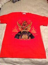 Phra Narai Vishnu Khrut Garuda Rahu  T Shirt Tee Thailand L Gold/black On Red