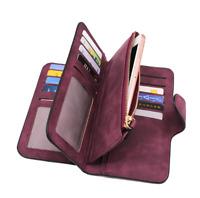 Clutch Leather Women Wallets High Quality Designer Zipper long Wallet Women Card