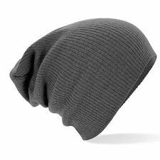 MENS LADIES KNITTED WOLLY WINTER OVERSIZED SLOUCH BEANIE HAT CAP SKATEBOARD SWAG