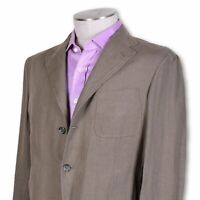NWT Belvest Green Pure Linen Three Button Center Vent Sportcoat 40 40r