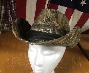 NWT new REALTREE Edge Camo Moldable COWBOY HAT wire brim sz L/XL western hunting