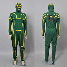 Kick-Ass Men's Costume Green Outfits Jumpsuit Uniform Suit Cosplay Tailored