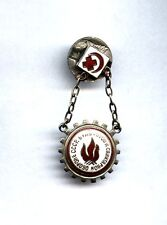 RARE Russian Soviet Badge: Be Ready to Sanitar Defence of USSR for pioneers 1934