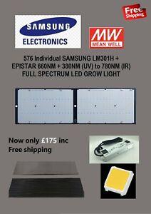 240w Samsung LM301H+660nm IR & UV full spec LED grow light Quantum Board 2000w