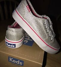 Girls Brand New Silver Keds Size 11 With Box