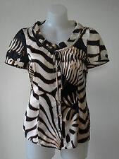 As New ROBERTO CAVALLI for Target sz 10 Short Sleeve Top Buy Any 3=Free Post