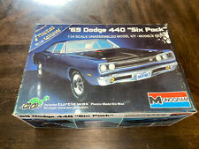 Monogram '69 DODGE 440 SIX PACK 1/24 Scale Plastic Model Kit UNBUILT 1983