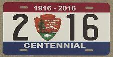 NATIONAL PARK SERVICE CENTENNIAL souvenir license plate 1916