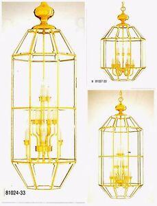 Minka Lavery POLISHED BRASS & BEVELED GLASS Pendant Chandelier 9- & 15-Light NEW