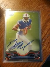 2013 Topps Chrome EJ Manuel Rookie Card Auto FLORIDA STATE RAIDERS 98/447