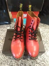 Doc Martens Bright Red Boots Pascal Smooth Leather 8 Hole Boots US Men 10 Wos 11