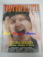 rivista TUTTIFRUTTI 82/1989 Zucchero David Bowie Doors R.E..M.Skid Row  No cd
