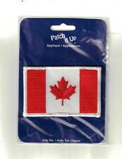 Canada Flag Iron-On Applique Embroidered Sewing  Craft Supply Embellishment